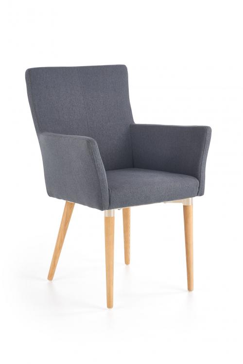 K274 krzesło ciemny popiel