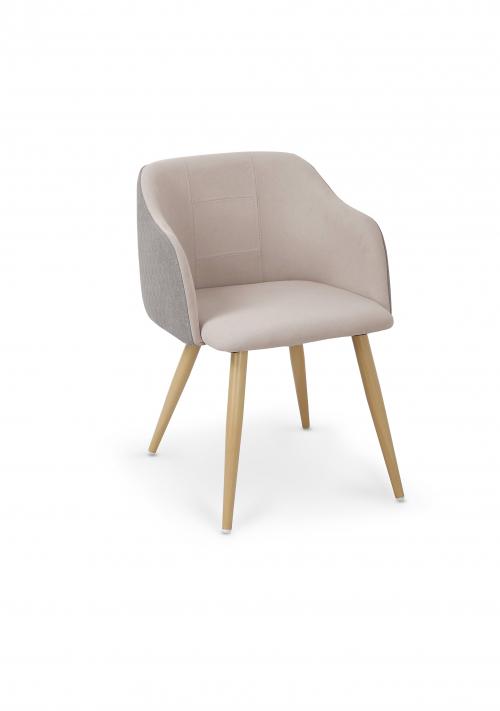 K288 krzesło jasny popiel / beżowy (1p=2szt)
