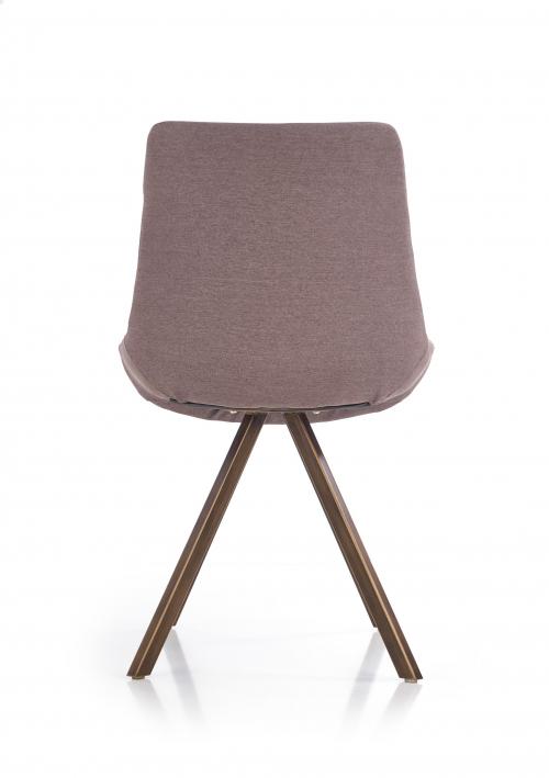 K290 krzesło popielaty / złoty antyczny