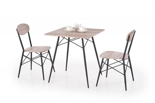 KABIR kwadrat zestaw stół + 2 krzesła dąb san remo / czarny (1p=1szt)