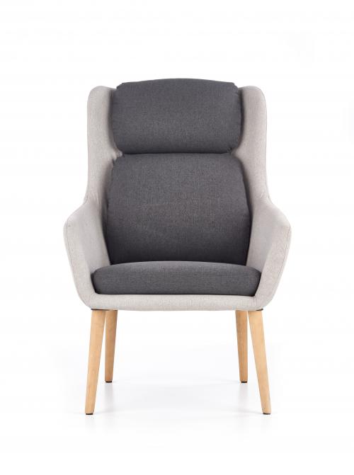 PURIO fotel wypoczynkowy jasny popiel / ciemny popiel