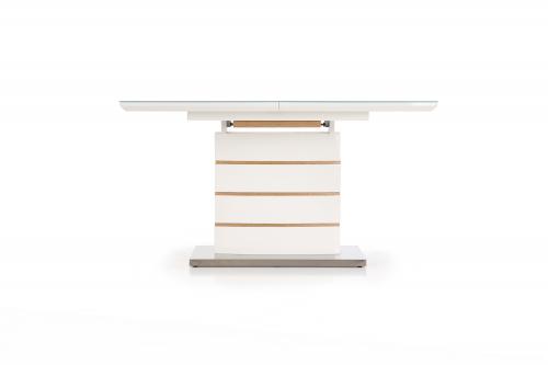 TORONTO stół rokładany biały / dąb złoty