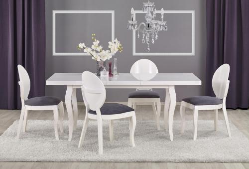 Stół rozkładany MOZART- biały (140-180/80)