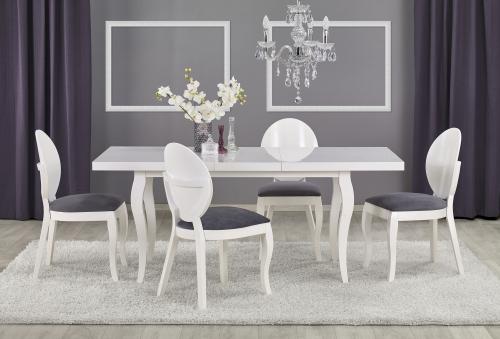Stół rozkładany MOZART- biały (160-240/90)