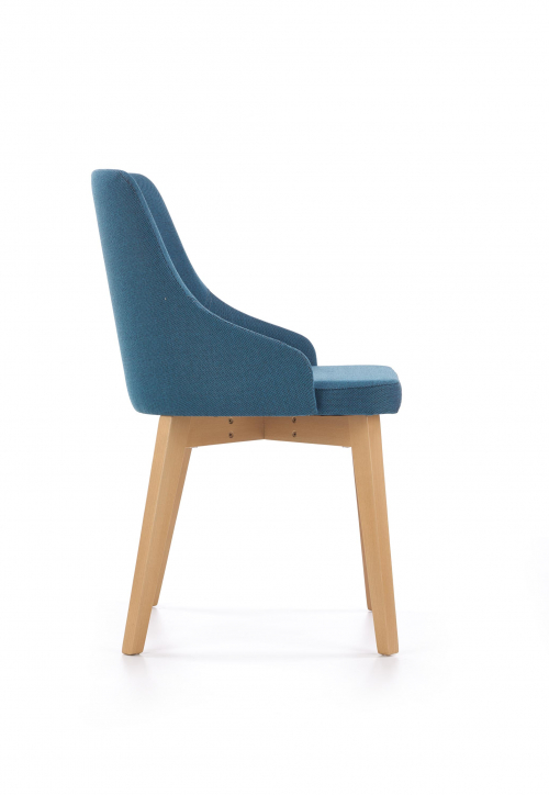 TOLEDO krzesło dąb miodowy / tap. Inari 87 (turkusowy) (1p=1szt)