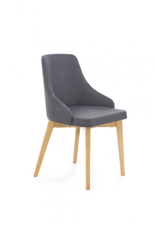 TOLEDO krzesło dąb miodowy / tap. Inari 95 (ciemny grafit) (1p=1szt)