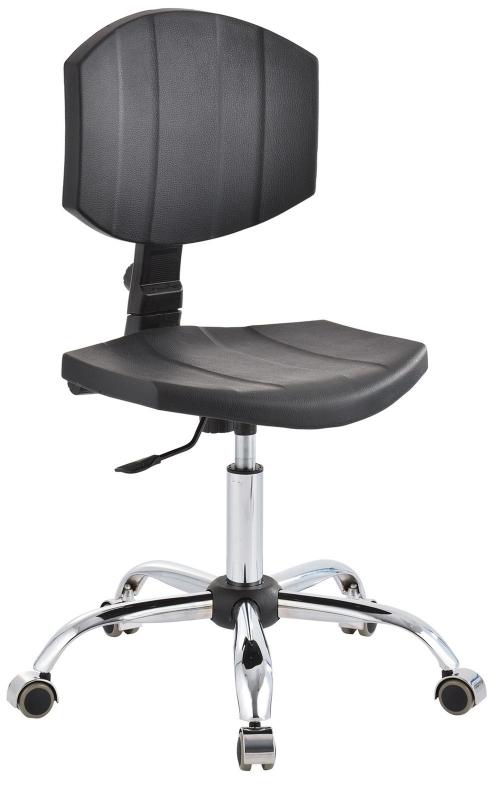 Krzesło laboratoryjne niskie - czarny/chrom KNSCR-02