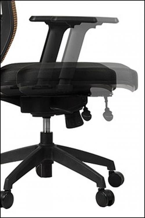 Fotel Biurowy Obrotowy  EF-GN301 z wysuwem siedziska, czarny