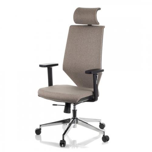 Fotel Biurowy Obrotowy  EF-ZN-805C-9 brązowy z wysuwem siedziska