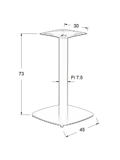 Podstawa do stolika EF-SH-3050-2/B- wysokość 73 cm 45x45cm