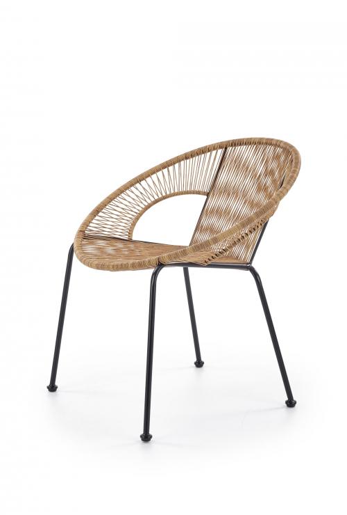 BARI fotel rattanowy naturalny / czarny