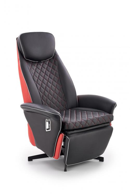 CAMARO fotel wypoczynkowy czarny / czerwony (1p=1szt)