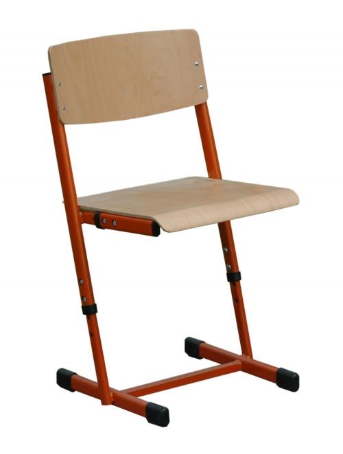 Krzesło ucznia REKS trzyrozmiarowe z regulacją wysokości i siedziska w zakresach: 1-3, 2-4 lub 4-6.