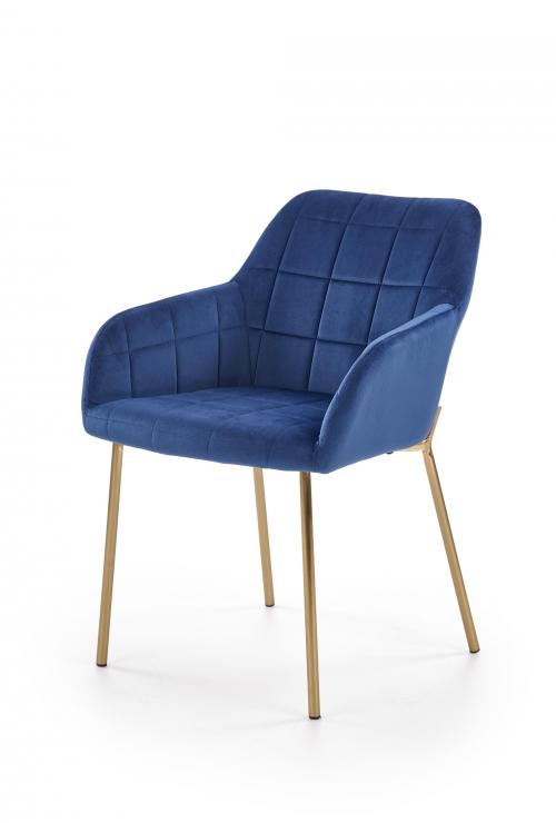 K306 krzesło złote / granatowe (1p=2szt)