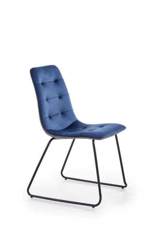 K321 krzesło w kolorze granatowym- popielatym /stelaż - czarny (1p=4szt)
