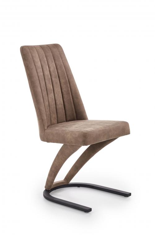 K338 krzesło w kolorze brązowym (1=2szt)