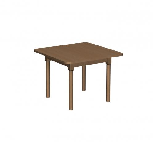 Stolik MB kwadratowy drewniany