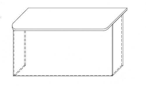 Lada recepcyjna VISTA LV5 - element prosty o wym. 140x85 cm