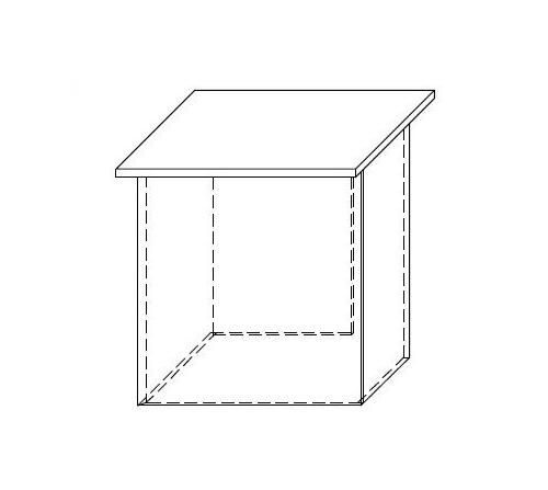 Lada recepcyjna VISTA LV7 - element prosty o wym. 70x70 cm