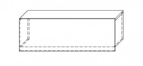 Nadstawka na ladę VISTA LVN8 - element prosty o dł. 120 cm