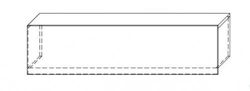 Nadstawka na ladę VISTA LVN10 - element prosty o dł. 160 cm