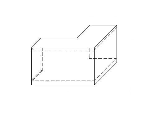 Nadstawka na ladę VISTA LVN11 - element narożny o wym. 70x70 cm