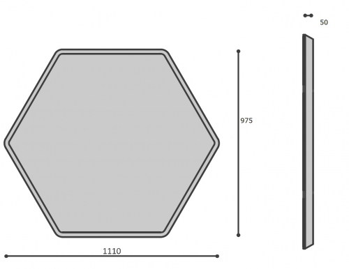 Ścianka akustyczna SILENT BLOCK WALL 3D SBW H60
