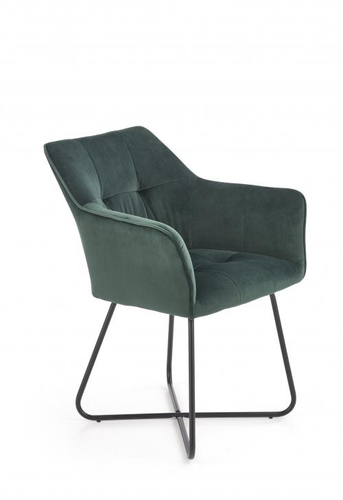 K377 krzesło w kolorze ciemno zielonym (1p=2szt)