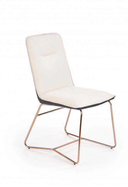 K390 krzesło kremowe / ciemny popiel / złote (2p=4szt)