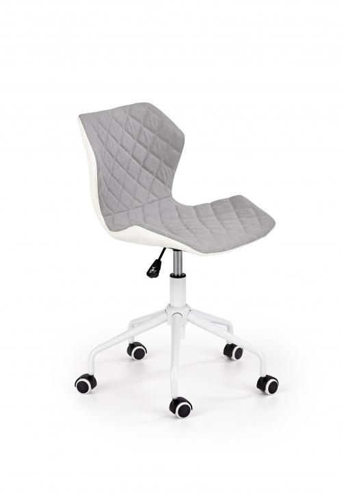 Krzesło obrotowe MATRIX 3 jasny popielaty / biały