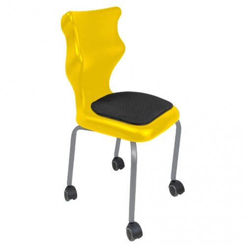 Krzesło szkolne Spider Move Soft nr 3 - stelaż biały Entelo