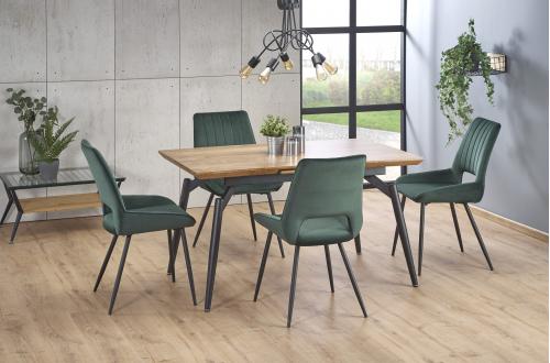 CAMBELL stół rozkładany, blat - naturalny, nogi - czarny (2p=1szt)