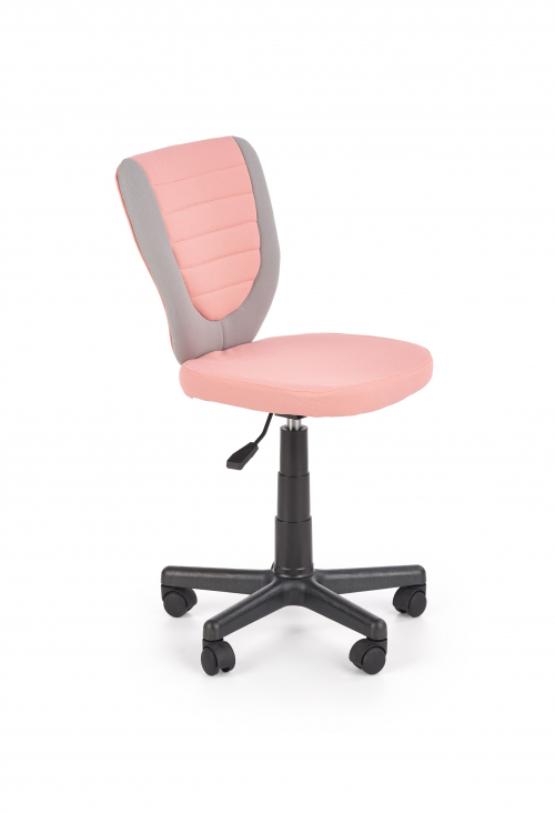 TOBY fotel młodzieżowy popielaty / różowy