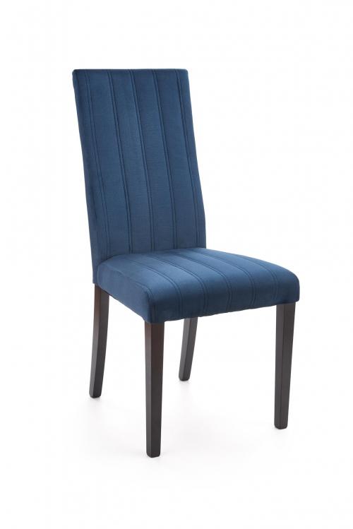 DIEGO 2 krzesło czarny / tap. velvet pikowany Pasy - MONOLITH 77 (granatowy) (1p=2szt)
