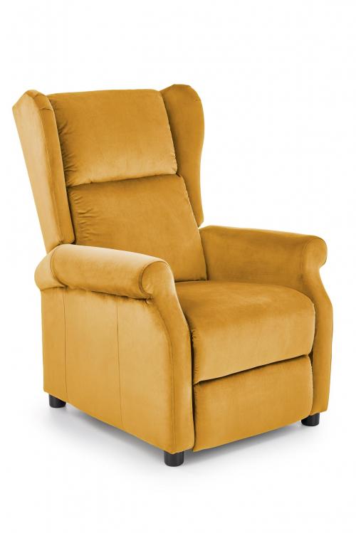 Fotel wypoczynkowy rozkładany AGUSTIN 2 musztardowy