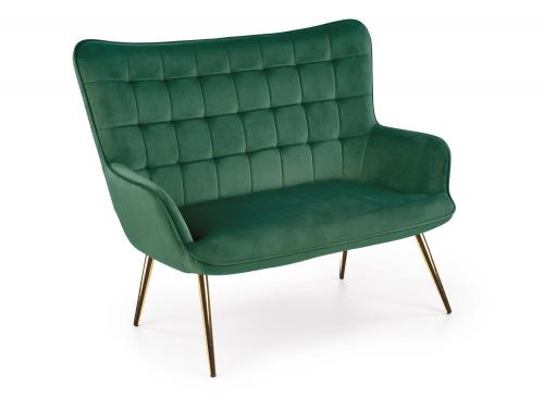 CASTEL 2 XL sofa ciemny zielony / złoty