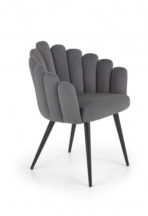 K410 krzesło popielaty velvet (1p=1szt)