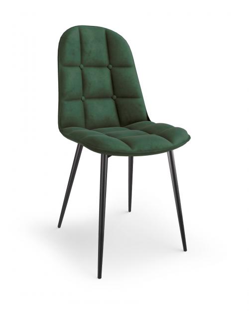 K417 krzesło ciemny zielony velvet (1p=1szt)