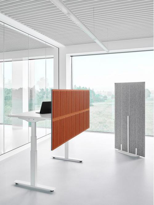 Panel akustyczny do biurka z osłoną CELL CEB-8/160x80