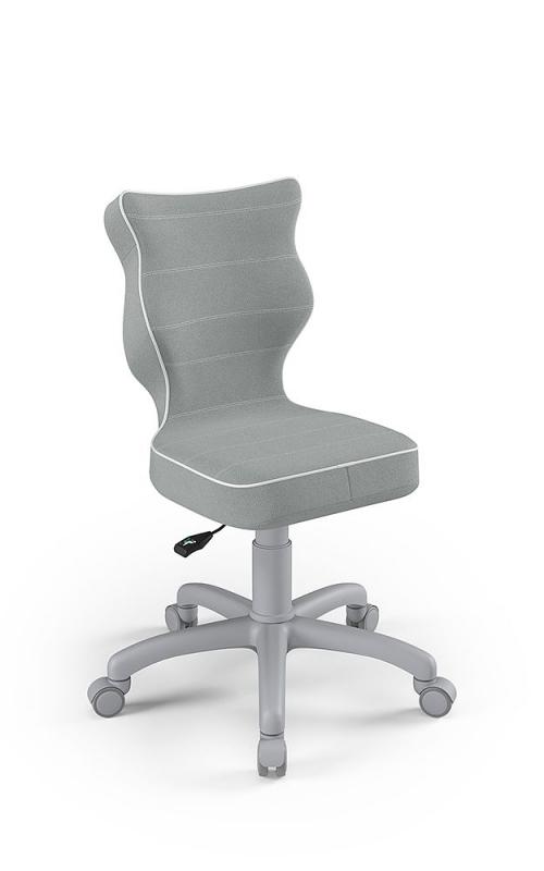ENTELO Dobre krzesło obrotowe PETIT nr 4 - podstawa szara