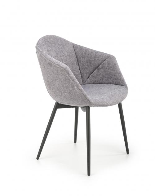 K420 krzesło nogi - czarne, siedzisko - popiel