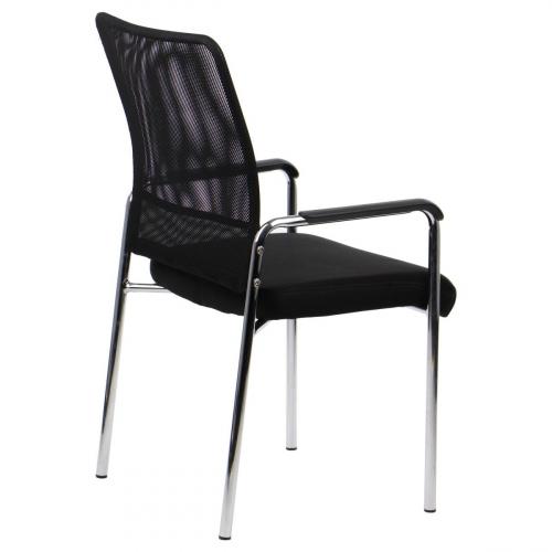 Krzesło dostawne CN-7501 czarny z podłokietnikami
