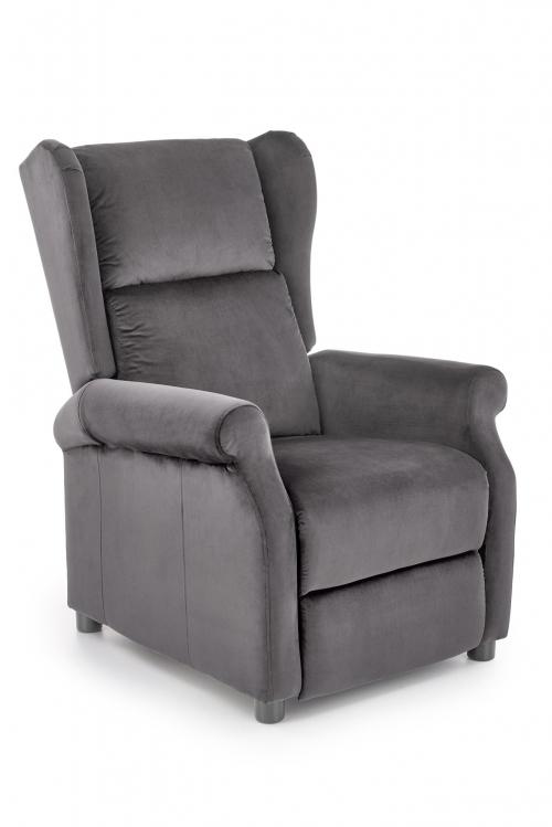 Fotel rozkładany wypoczynkowy AUGUSTIN popielaty BLUVEL #14 (1p=1szt)