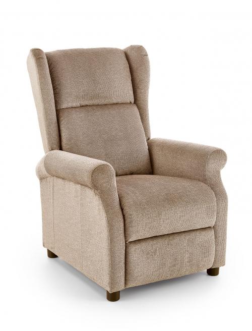 AGUSTIN M fotel rozkładany z funkcją masażu beżowy (1p=1szt)