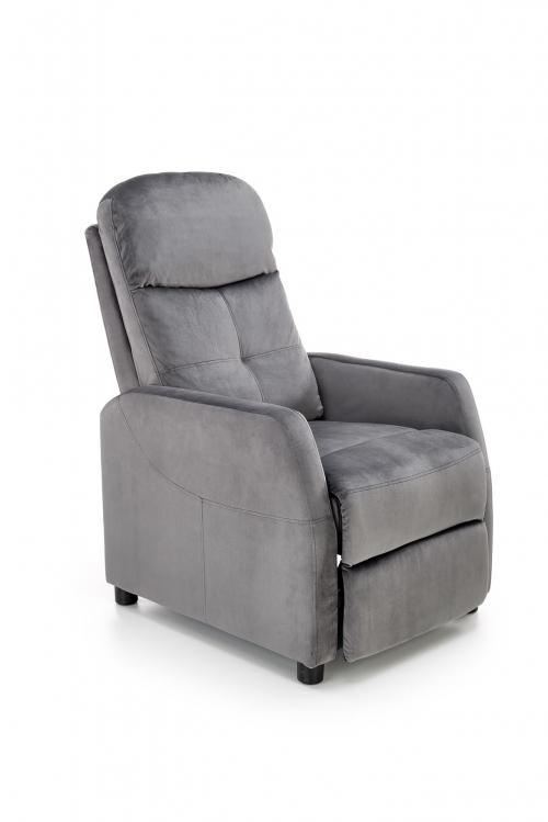 FELIPE 2 fotel wypoczynkowy popielaty  BLUVEL #14 (1p=1szt)
