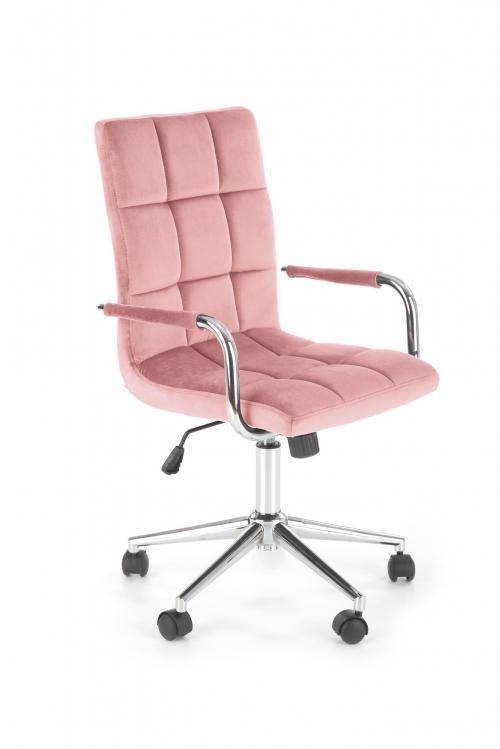 Fotel obrotowy GONZO 4 różowy velvet