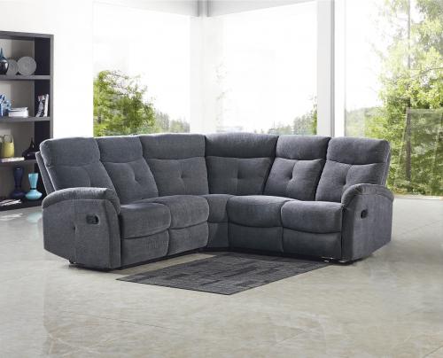 LAHTI sofa - narożnik ciemny popiel
