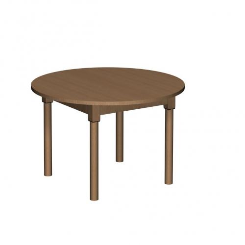 Stolik MB okrągły drewniany