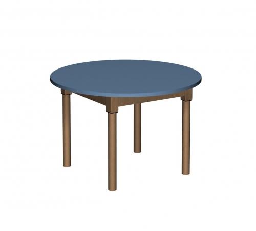 Stolik MB okrągły drewniany/ opcja regulacja wysokości