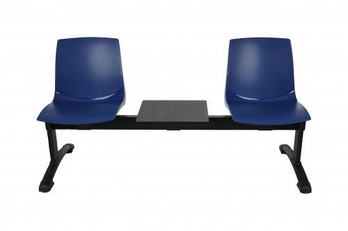 Ławka ARI 3T 2 osobowa + stolik - niebieska